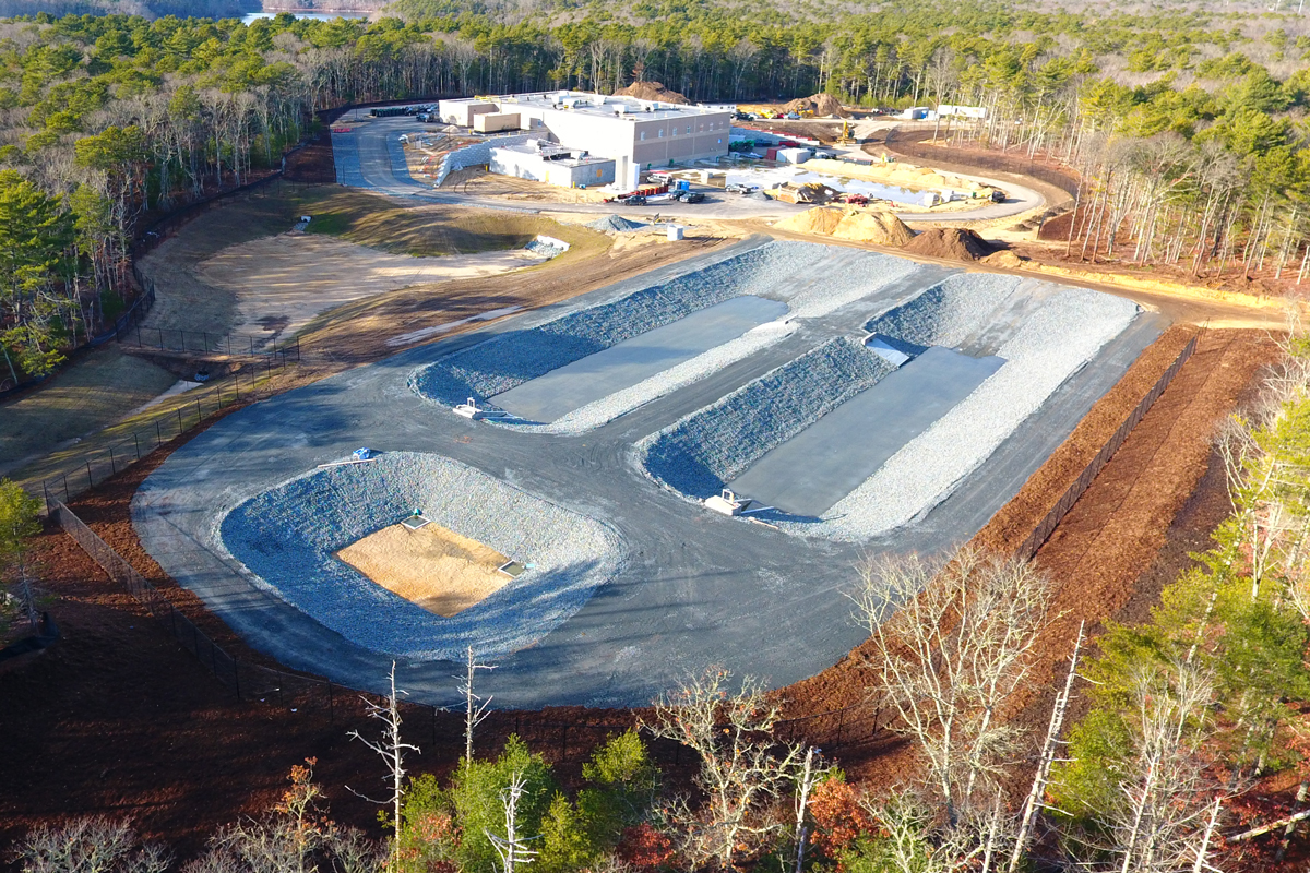 The Falmouth, MA Long Pond Water Treatment Plant nearing completion