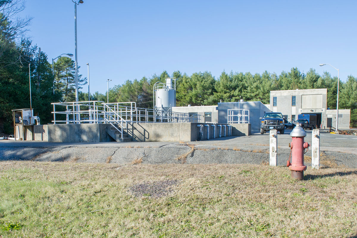 View of the Hopedale wastewater treatment facility during pre-construction walk-through