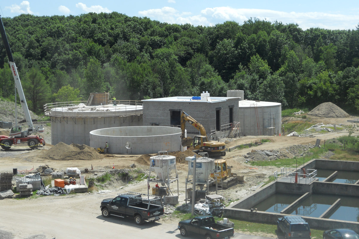 The anaerobic digesters being constructed as part of the CHP project