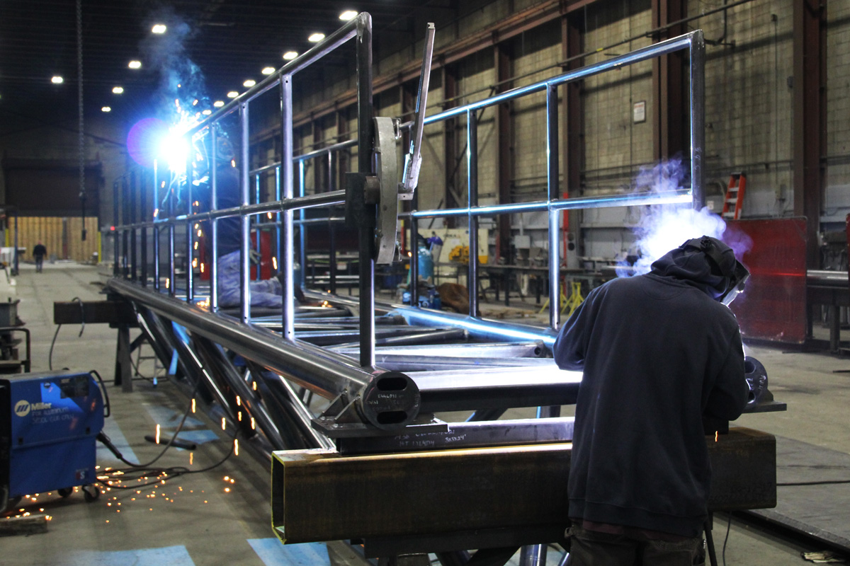 Welding one of the gangways