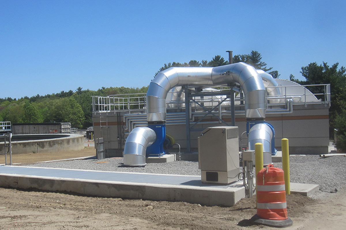 New Building with finished piping