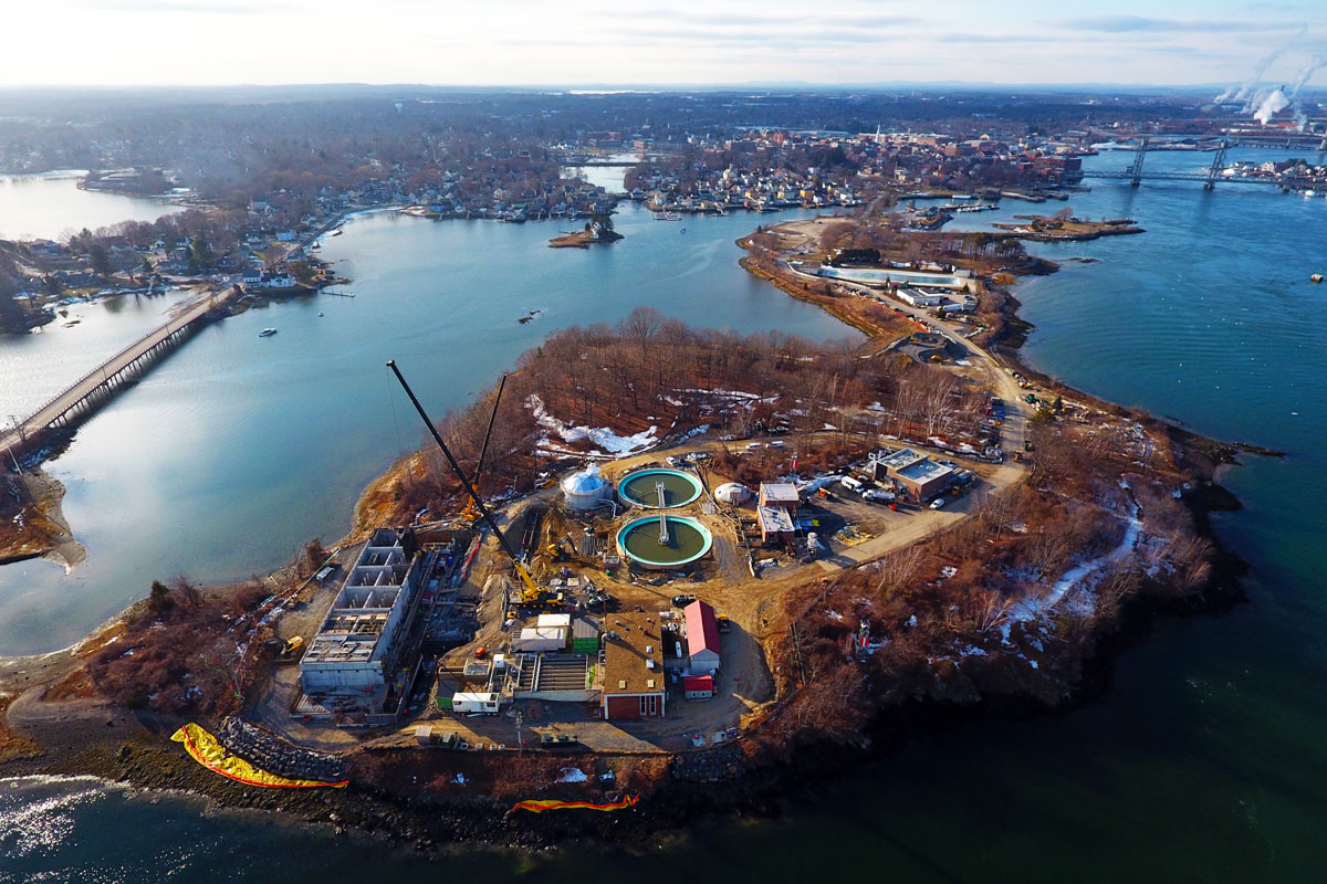 Peirce Island construction progress photo  - January, 2018
