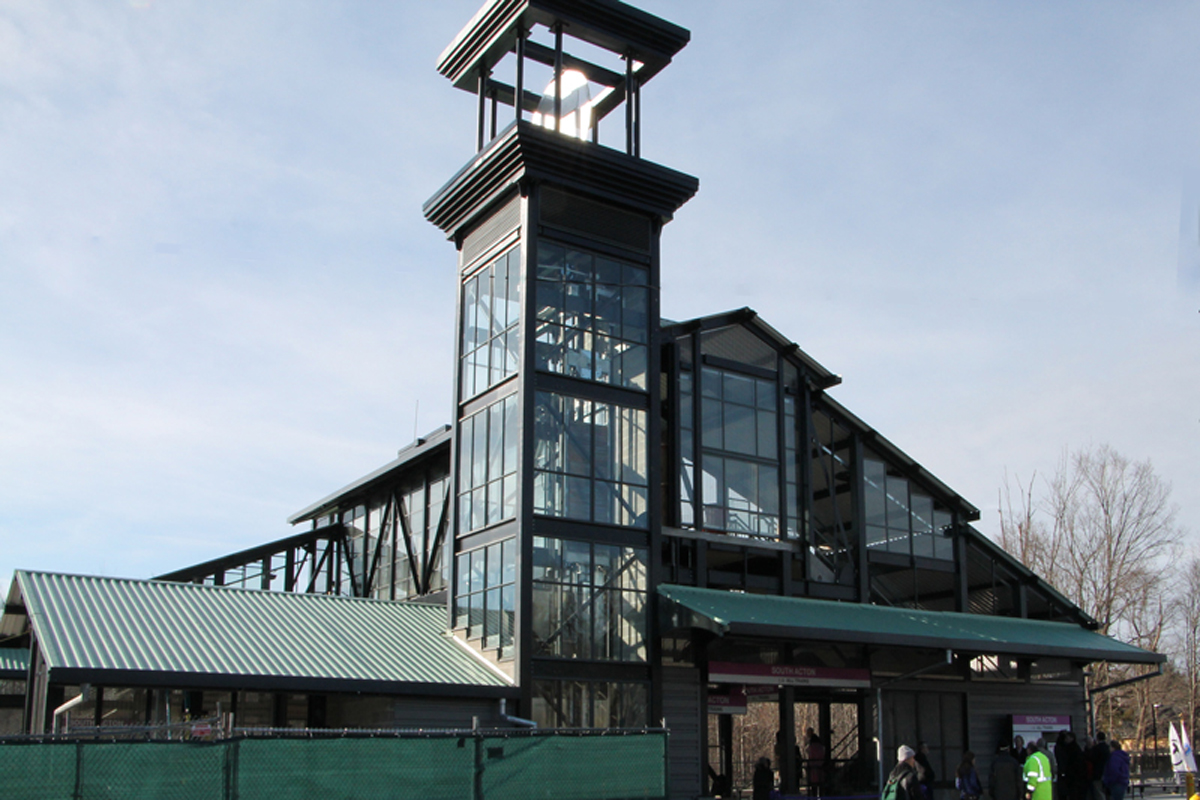 Finished MBTA commuter rail station - South Acton, MA