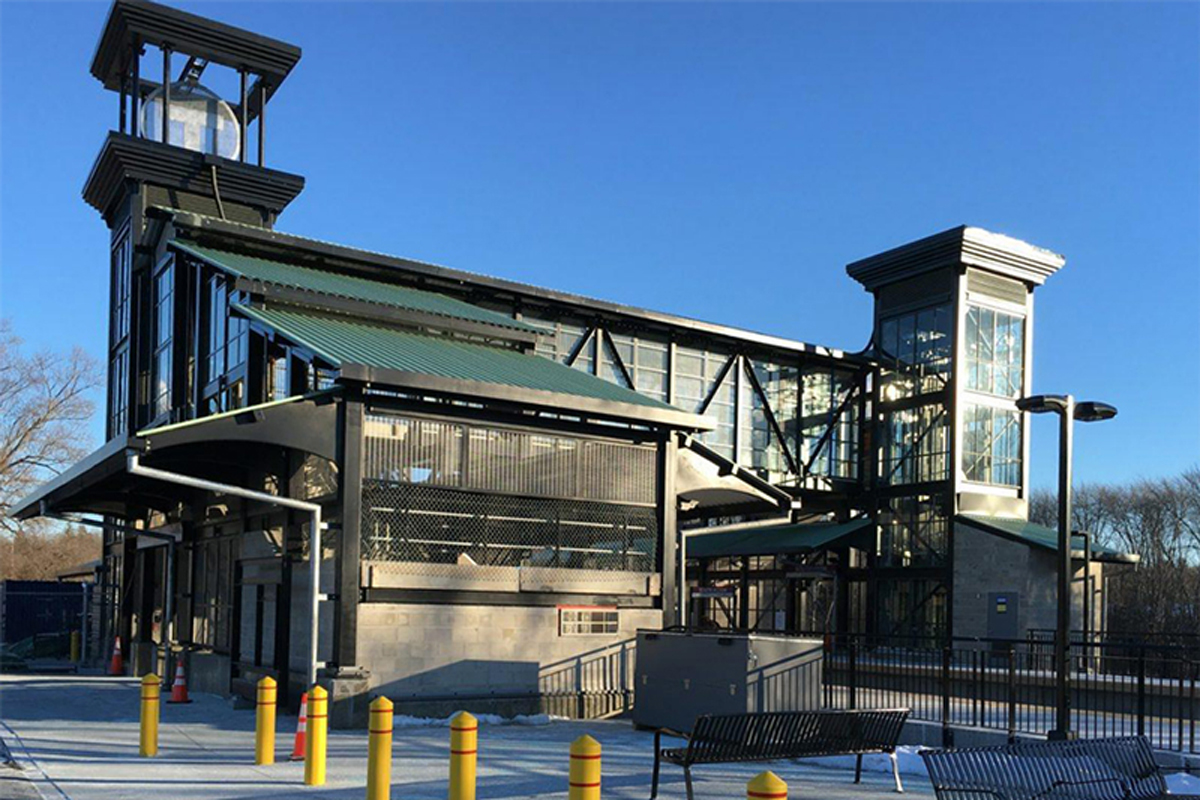 The South Acton MBTA station nearing completion