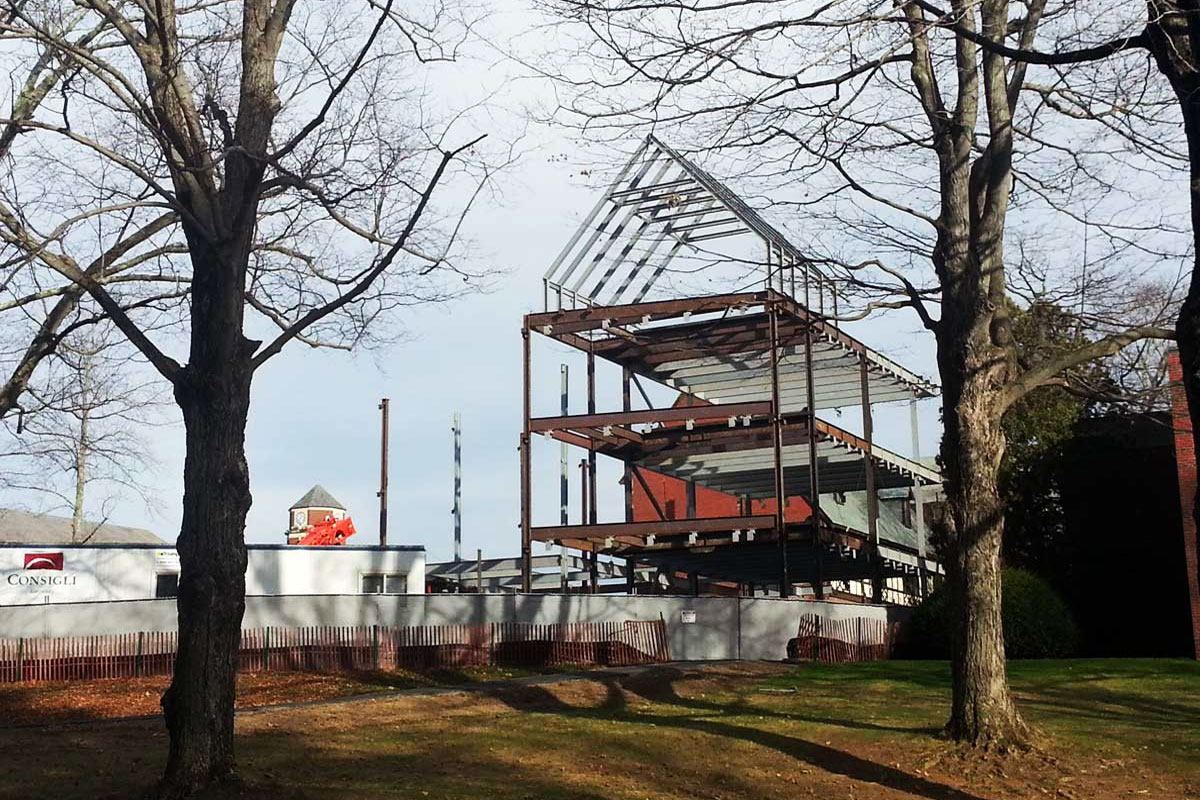 Structural Steel going up for the new S.T.E.M. building at the St. Marks School
