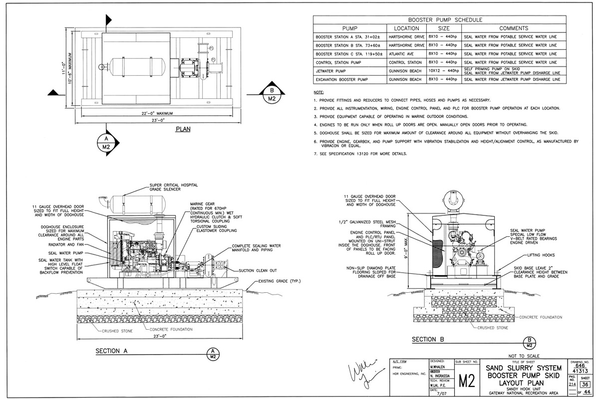 Slurry pump design for the beach erosion control system at Sandy Hook NJ