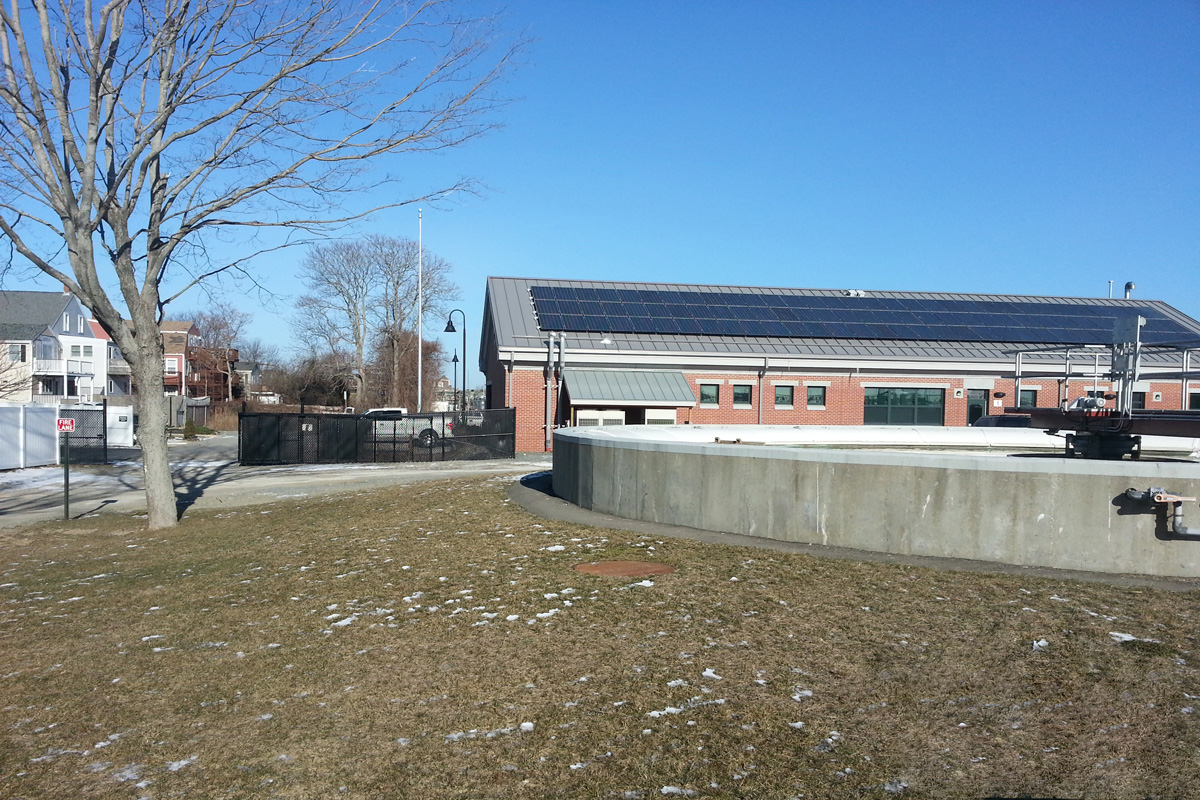 Photo of the Newburyport, MA wastewater treatment plant during pre-construction walk-through