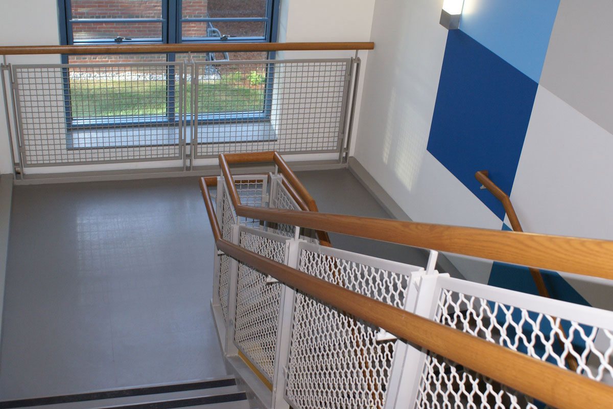 The project included miscellaneous metals for staircases and railings