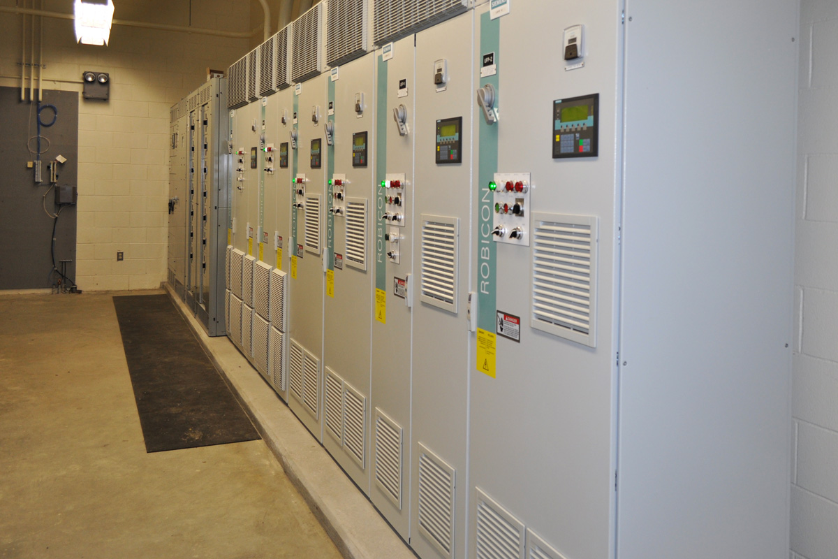 Control panels for the treatment plant