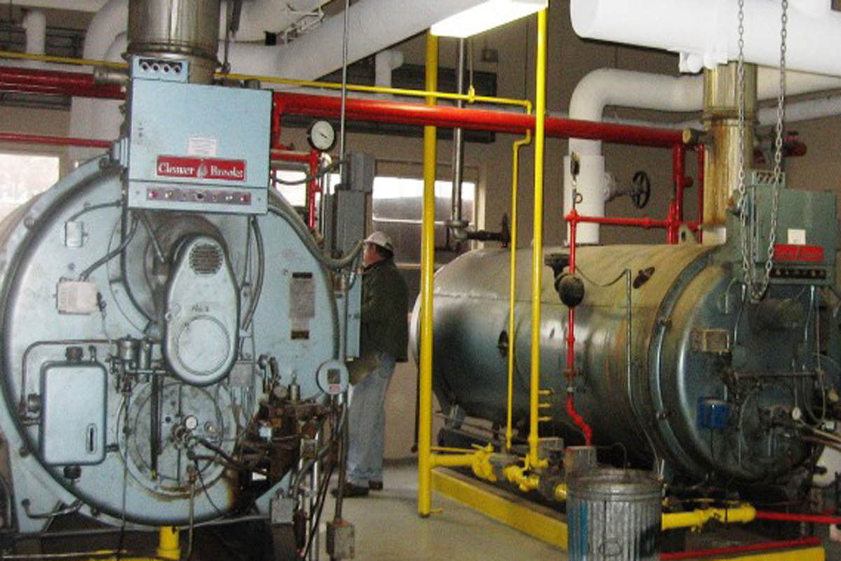 Two boilers at the Westover Air Force Base