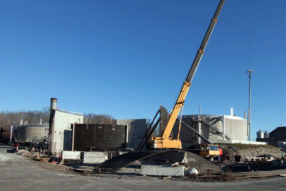 Digester #4 is being constructed next to the existing anaerobic digesters