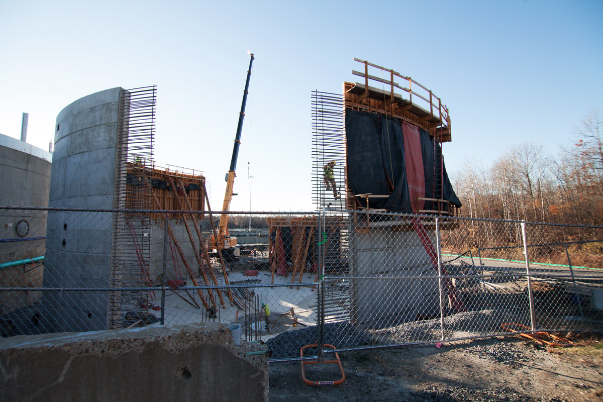The digester walls are carefully constructed to exact specifications