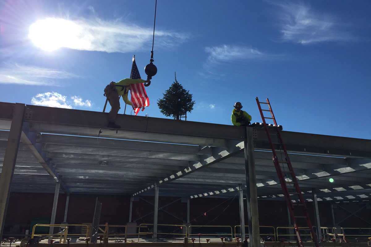 Another view of the topping off ceremony