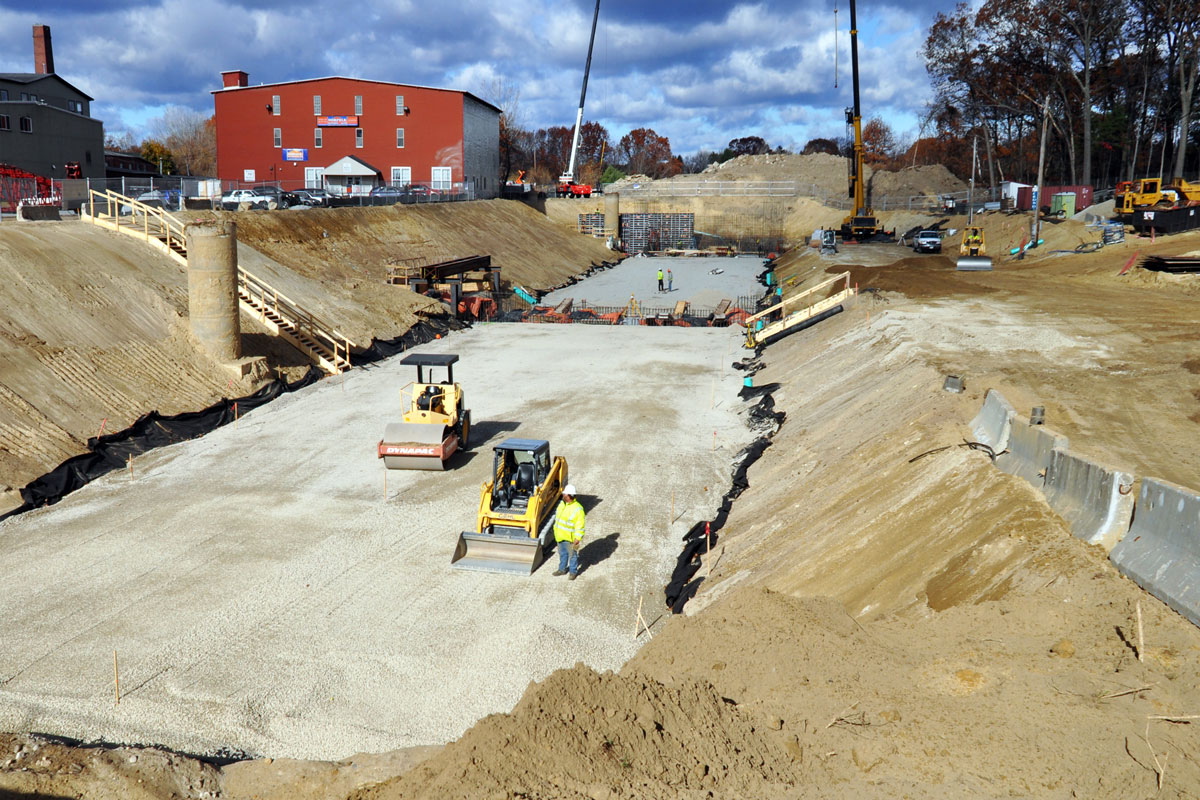Excavation for the 1-million gallon Combined Sewer Overflow facility in Nashua, NH