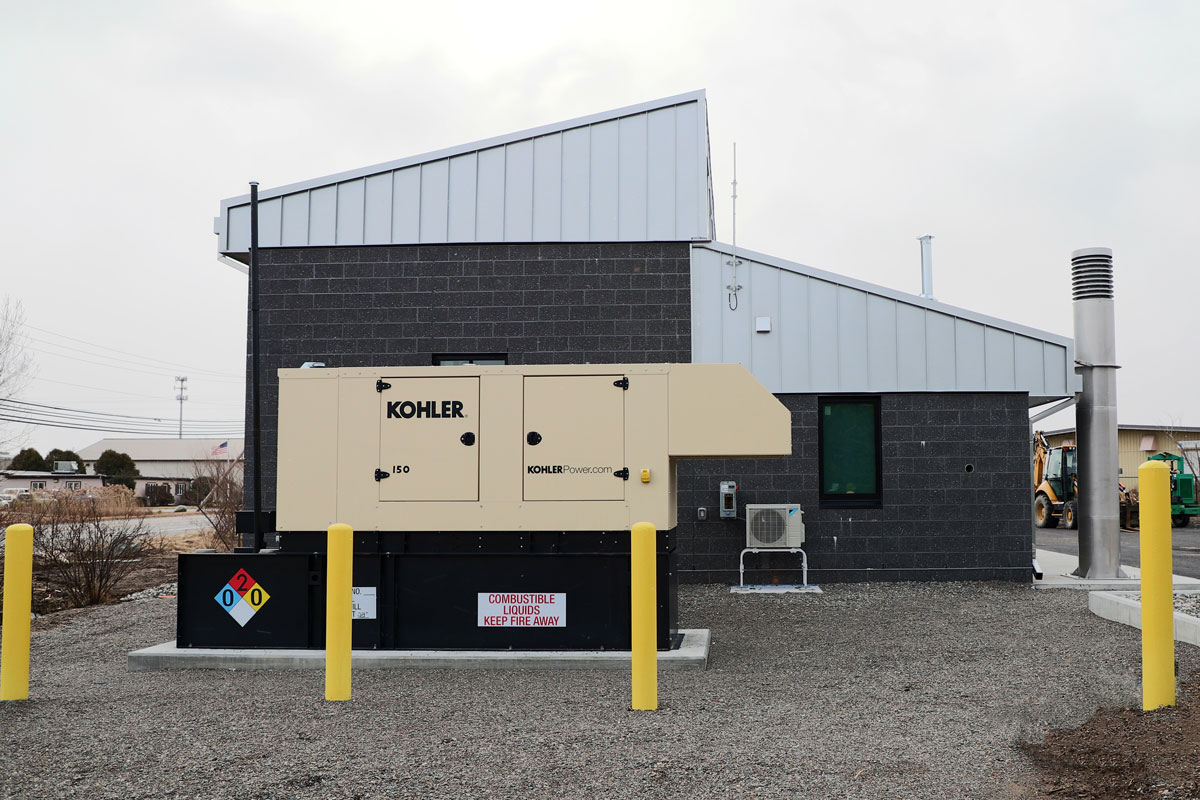 The emergency generator for the Graf Road Pump Station