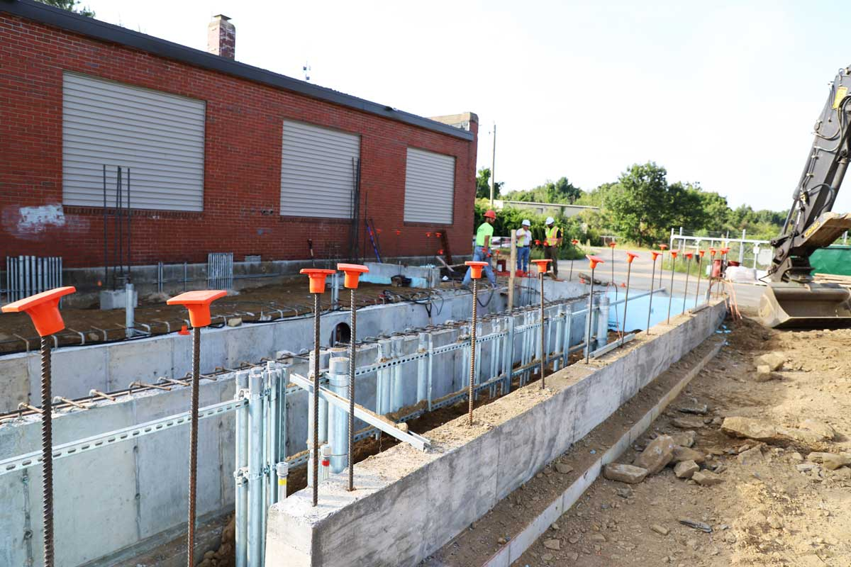 Creating the foundation of the new pump station