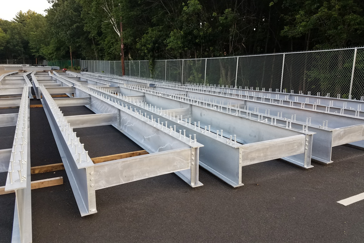More platform frames delivered to the railroad station