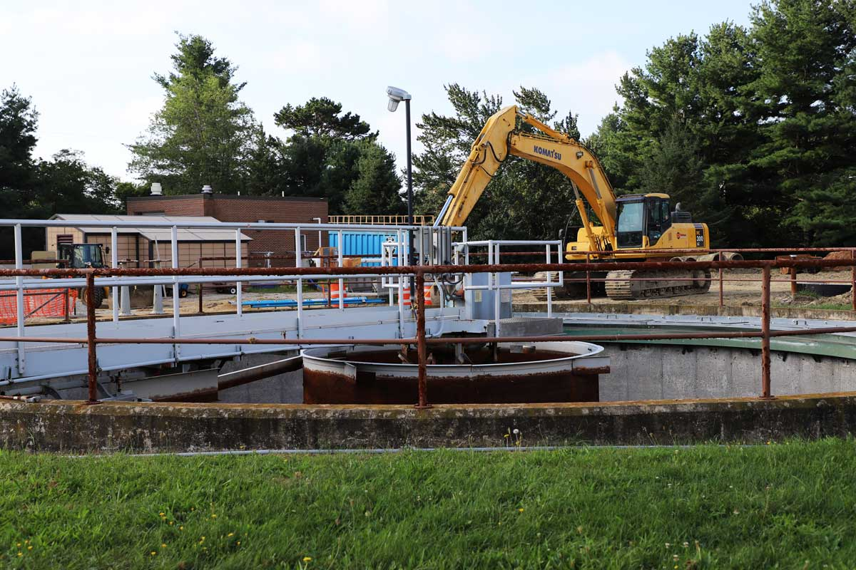 The primary clarifiers will be rehabbed and connected to one of two new odor control systems