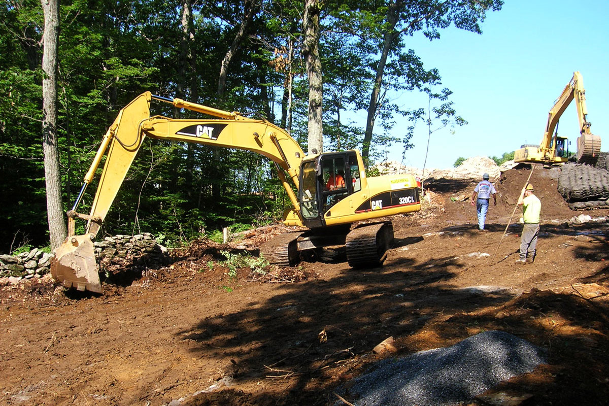 Building the access road for the Wind Turbine Install - Princeton MA