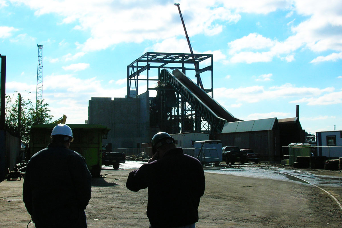 Construction of steel recycling facility in Everett, MA