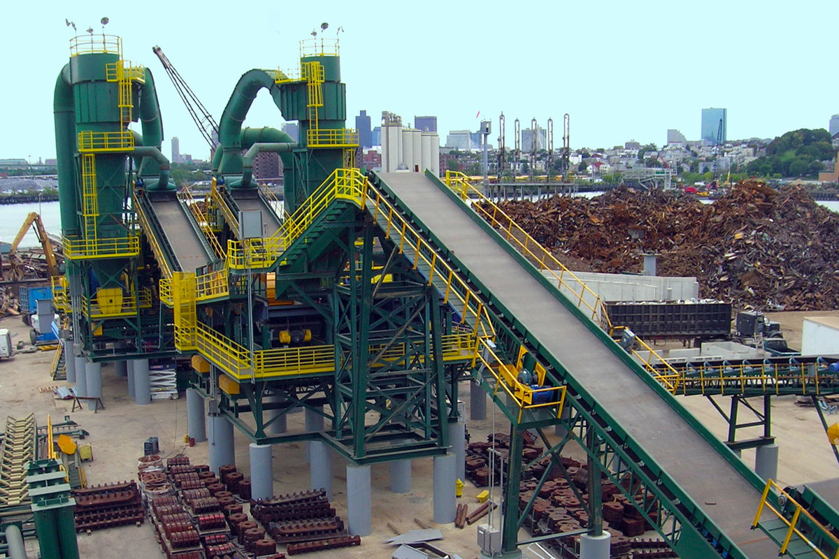 The finished steel recycling facility in Everett, MA