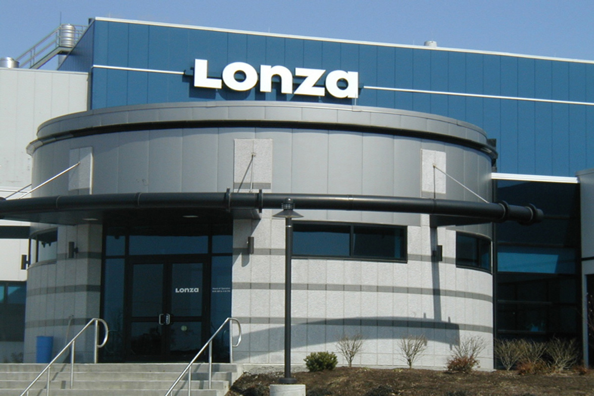 Main entrance to the new Lonza facility