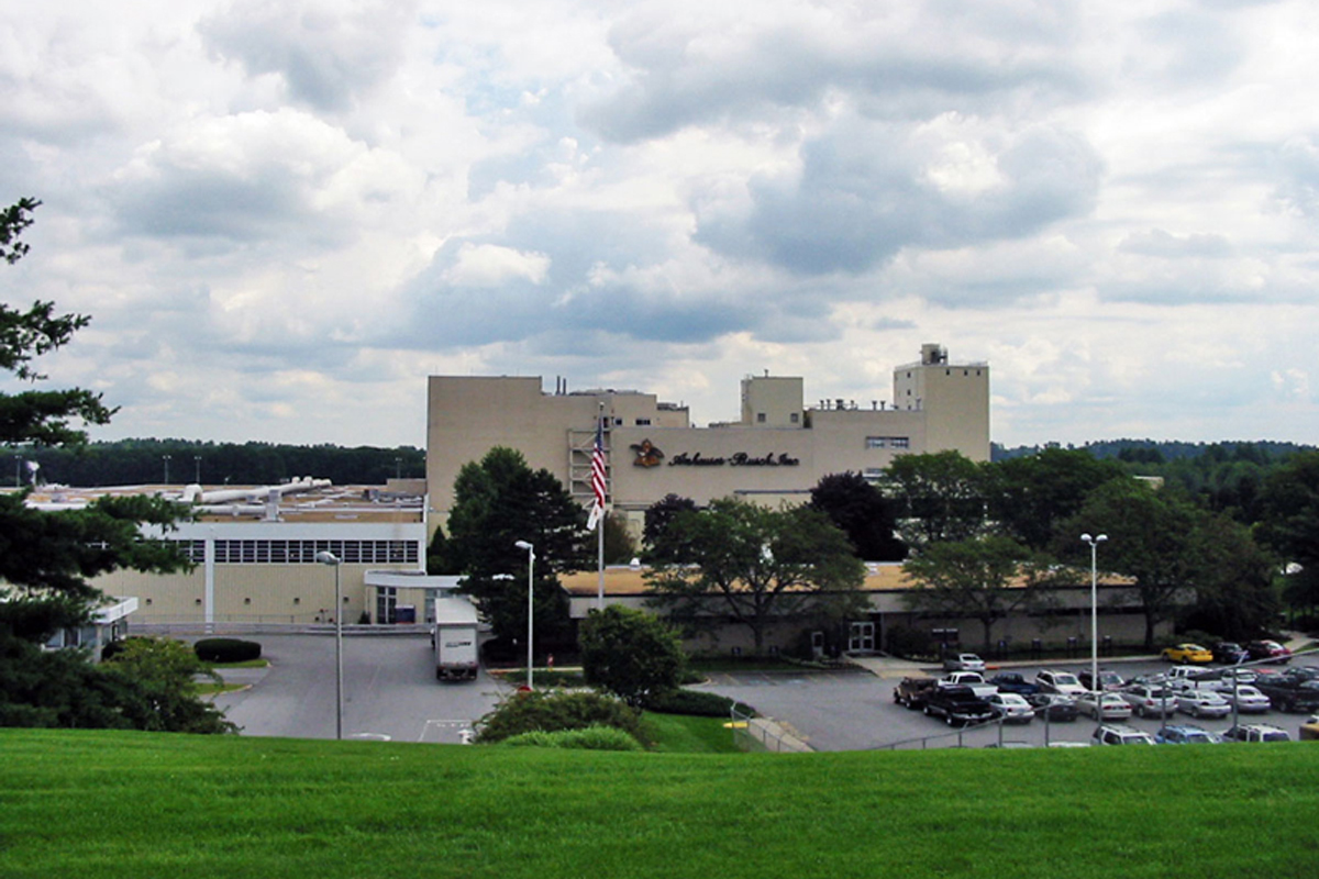 The Anheuser-Busch brewery in Merrimack, NH