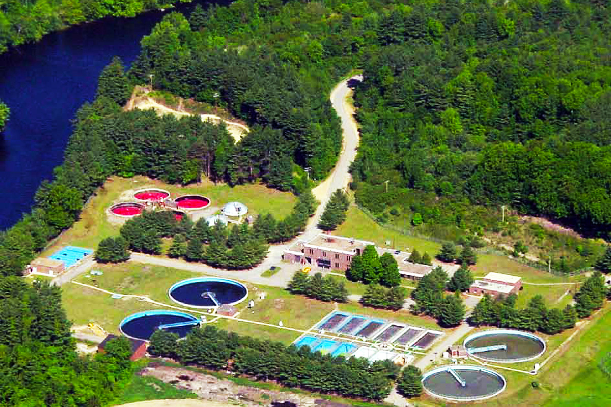 The improved and updated Franklin NH wastewater treatment facility