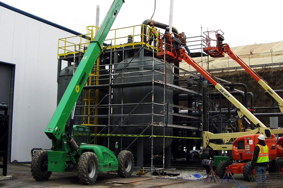 Construction of the Combined Heat & Power (CHP) facility at UNH