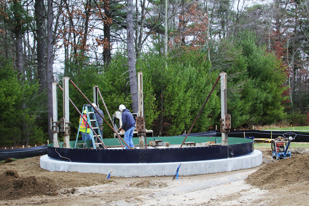Building the equalization tank from the ground up