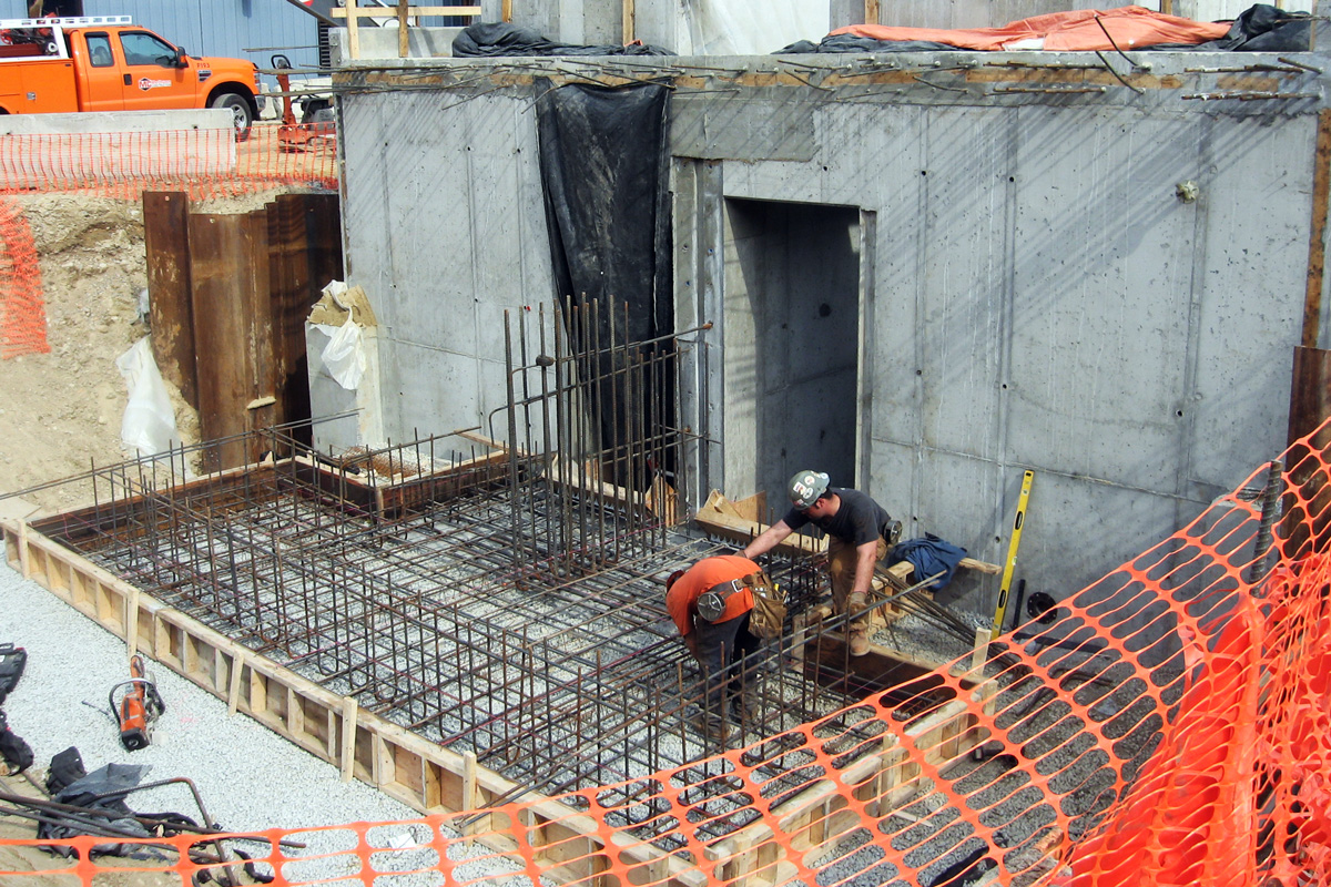 Constructing the foundation of the new aerated grit removal building