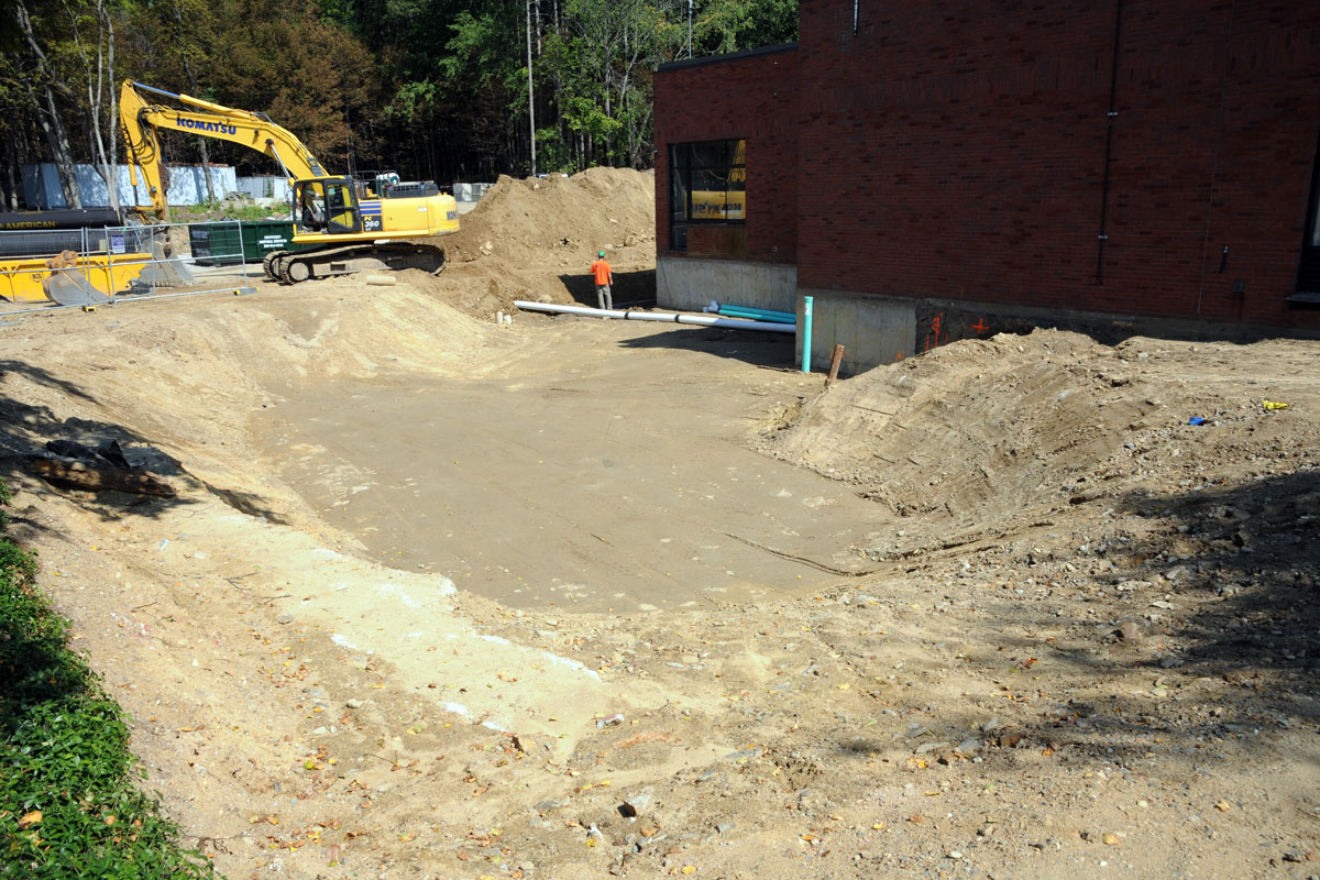 Excavation for the new water treatment building