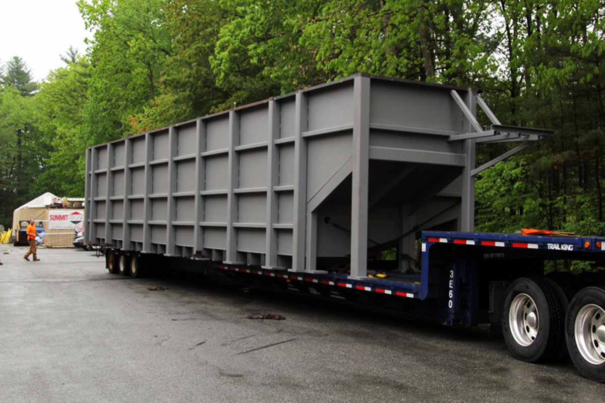 The lower tank ready to be transported to the FIBA facility in Littleton, MA