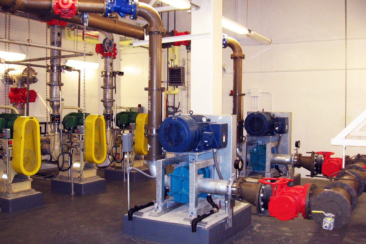 New pumps were installed as part of the storm flow improvements