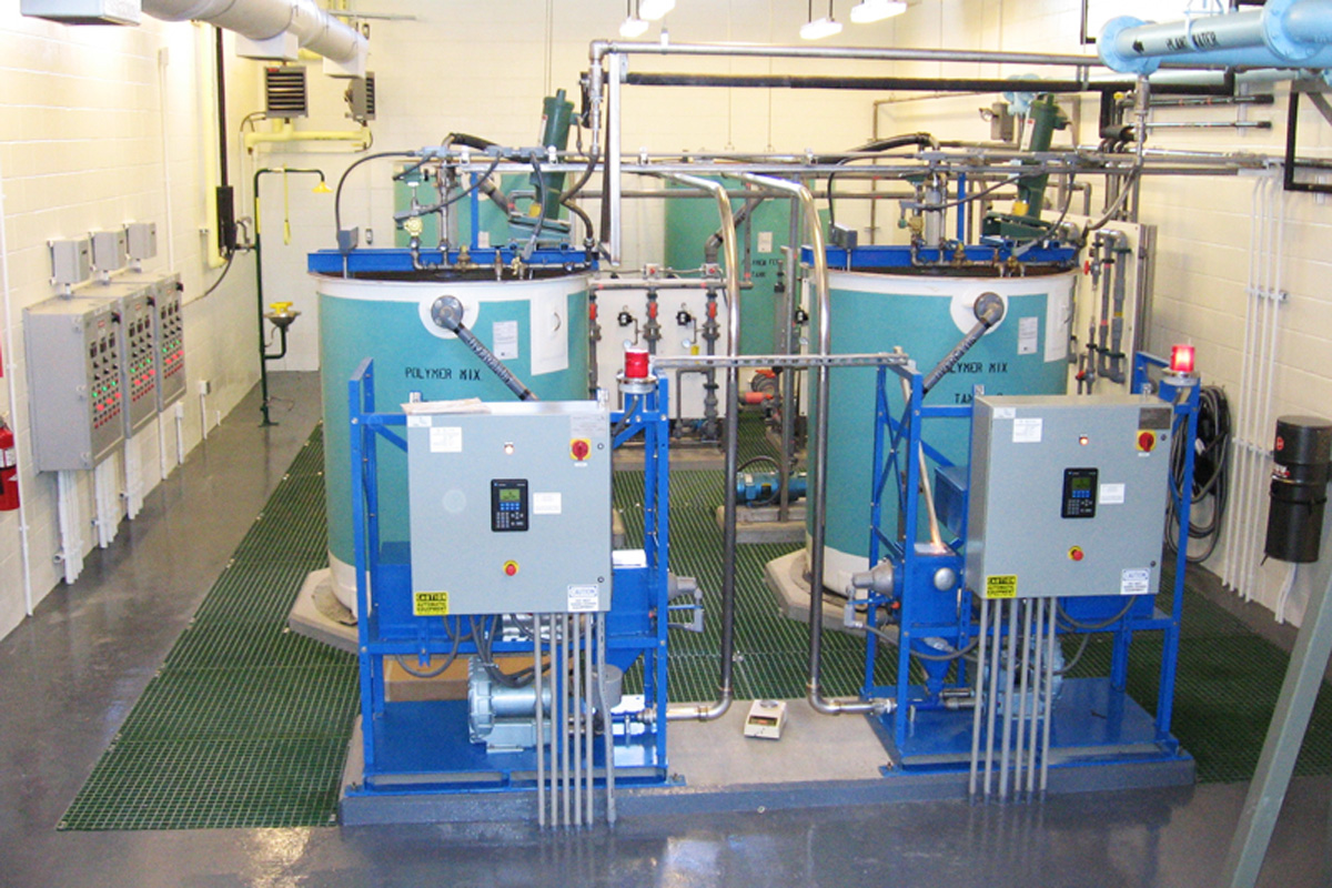 Controls and disinfection equipment in the new influent pump station