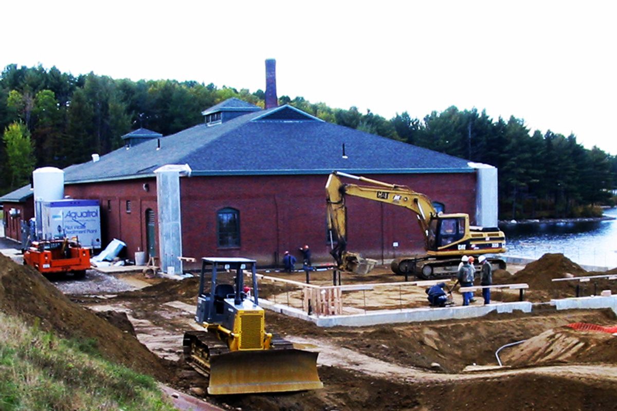 Excavating for the new Ultra Filtration Water Treatment Facility