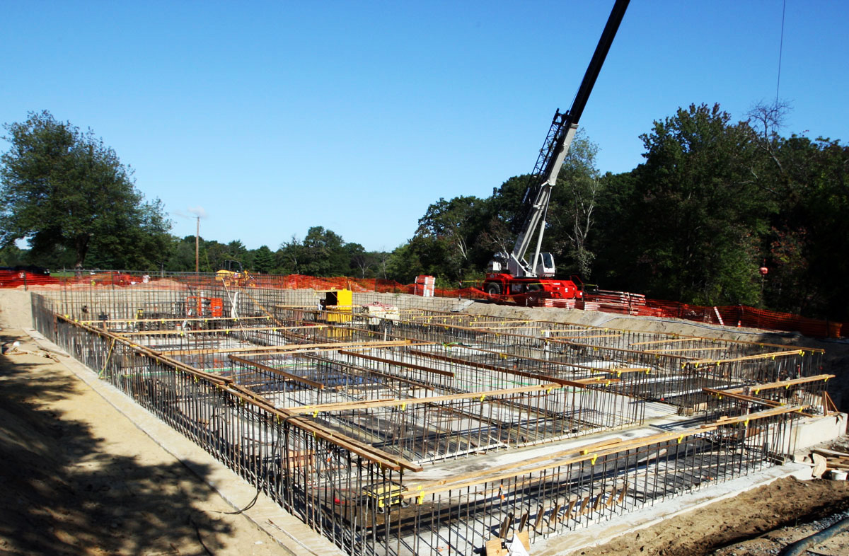 Laying the foundation for the Baldwin Pond water treatment plant