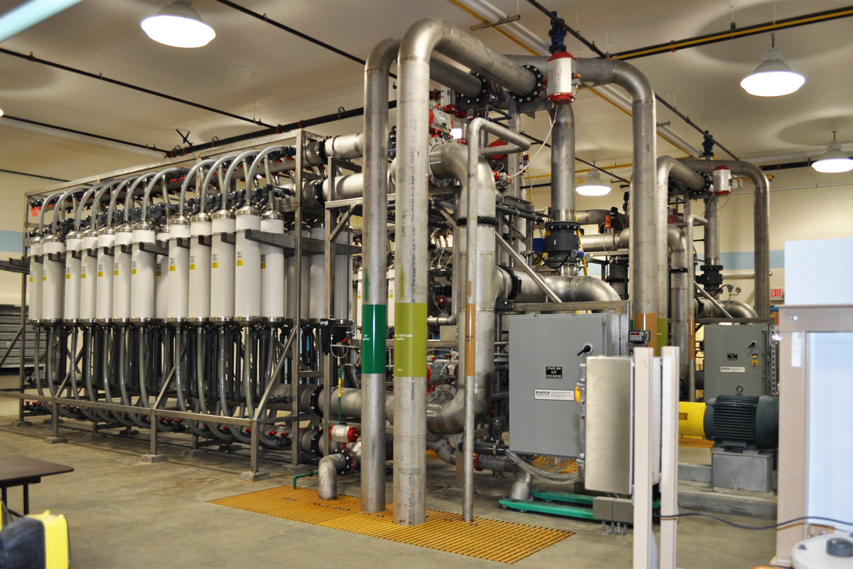 Membrane Filtration System at the Baldwin Pond water treatment plant